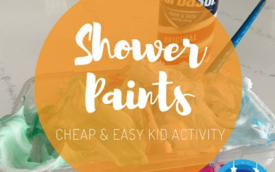 Shower Paints: Cheap & Easy (keep your kid busy) Activity