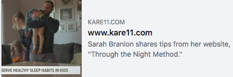 KARE 11 Interview: Helping babies and toddlers develop good sleep habits